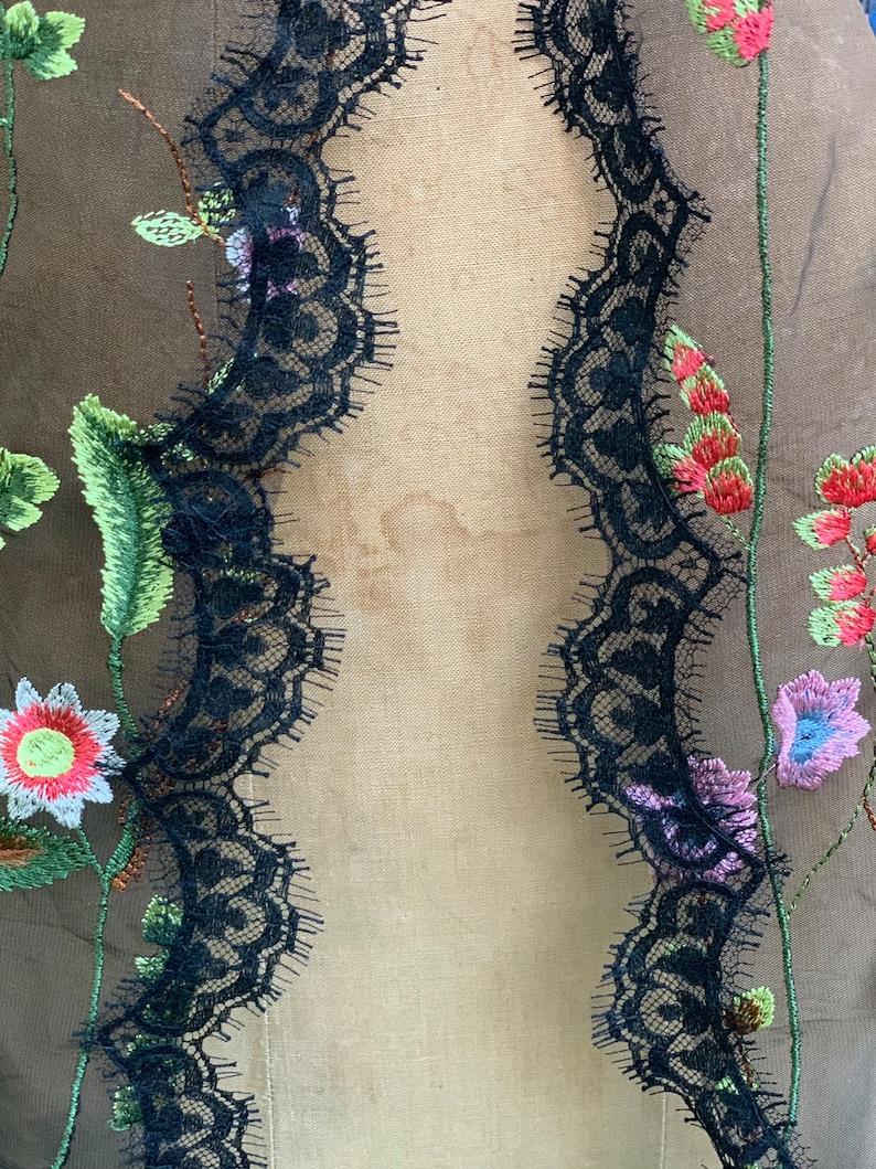Lace Tulle Swatches Bridal Veil Black Bridal Veil image 0