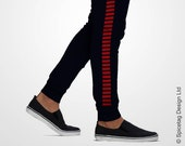 Smuggler Sweatpants Iconic Rebel Solo Joggers Red Stripped Navy Blue Sweats Star Sweat Pants Mens Womens Tapered Modern Fashion Athleisure