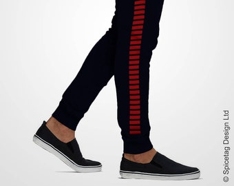 2d316f00d9 Smuggler Sweatpants Iconic Rebel Solo Joggers Red Stripped Navy Blue Sweats  Star Sweat Pants Mens Womens Tapered Modern Fashion Athleisure
