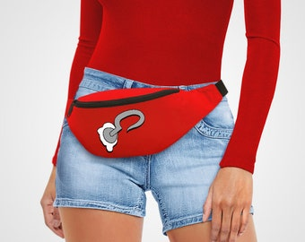 Hook Bag Belt Red Retro Bum Bag Castle Storage Bumbag Retro Drawing fanny pack Sketch Cartoon holdall Cross Body Bags Holiday Peter Lost