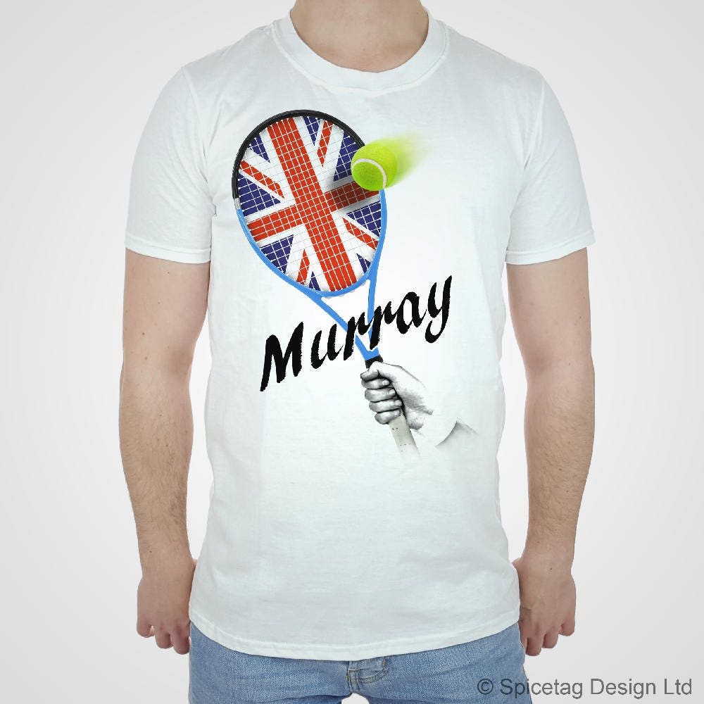 Murray T-shirt Tennis Tshirt British Top Scottish Scott 2017 Racket Champion Tee Grand Slam Sport Womens Mens Kids Unisex Top Unisex Tshirt