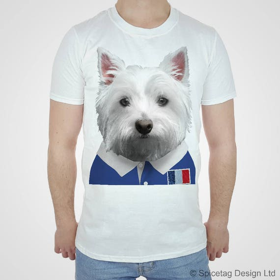 Rugby Shirt For Dog: France Rugby T-shirt Westie Tshirt French Puppy Top Scotty
