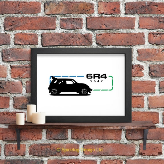 Metro 6R4 80s Car A3 Print Retro Group B 80s Sports Racing Motor Art Picture