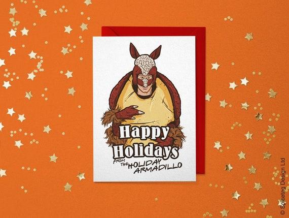 Funny Christmas Card Funny Holiday Card Funny Greeting Card Armadillo Card Ross Card Funny Hanukkah Card