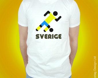 Sweden Retro Football T-shirt Swedish Stick Man 2018 World Soccer T Shirt Mens Womens Tee