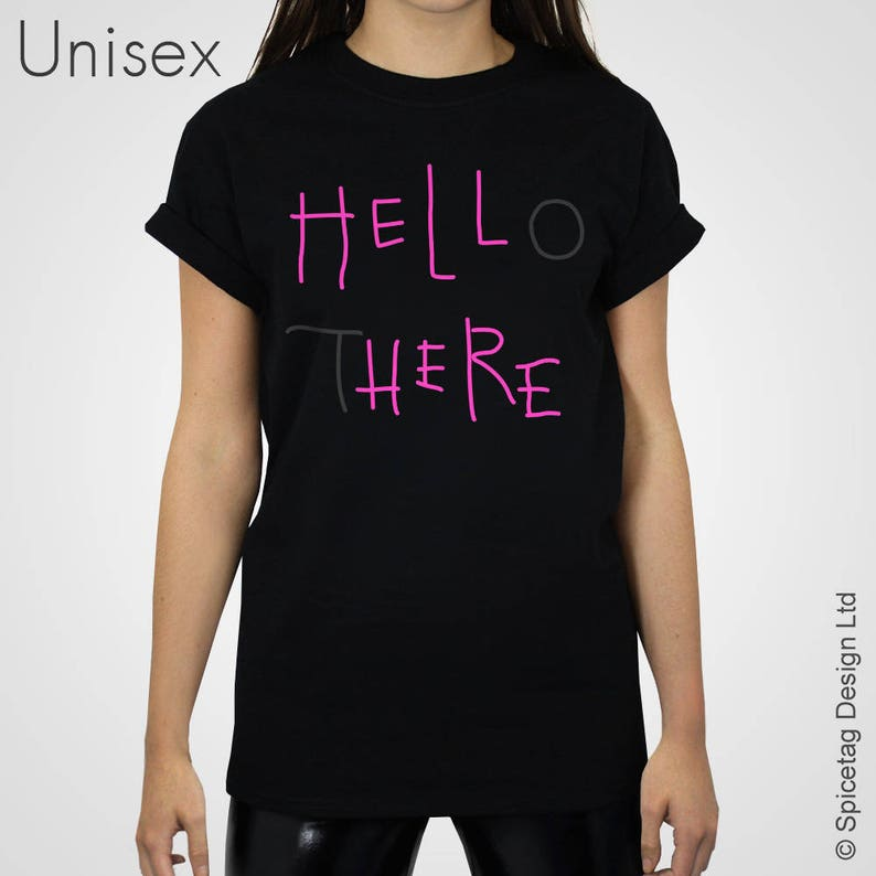 Hell Here T-shirt Pink Neon Sign Hello There Tshirt Film Movie  1625e55c0