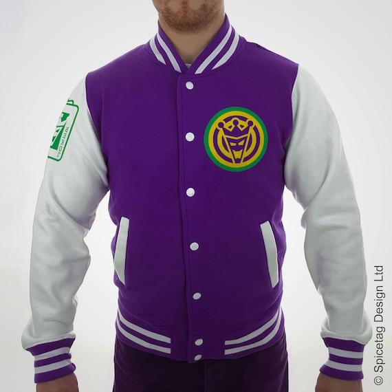 Veste Varsity Joker violet avec blanc manches Collège Letterman Squad  manteau Baseball haut Université américaine mode femmes hommes tenue 10b5fafb54f7