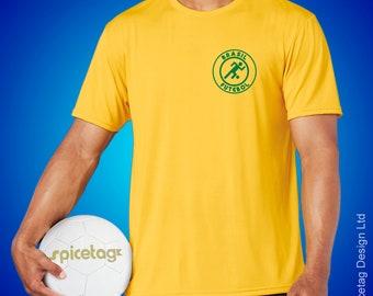 Brazil Retro Sport T-shirt Brazilian Stick Man Football World Soccer T Shirt