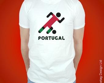 Portugal Retro Football T-shirt Stick Man Portuguese 2018 World Soccer T Shirt Brasil Mens Womens Tee