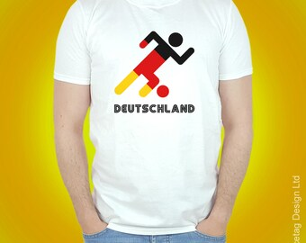 Germany Retro Football T-shirt 70s German Stick Man 2018 World Soccer T Shirt