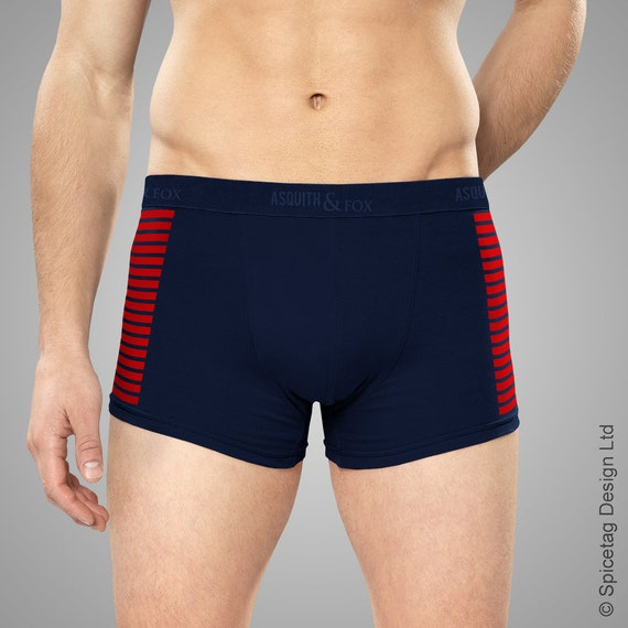 Smuggler Boxer Shorts Iconic Rebel Solo Boxers Red Stripped Navy Blue Underwear Pants Mens Funny  Custom Briefs Geeky Nerd Gift Present