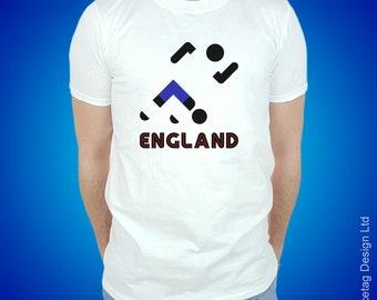 England Retro Football T-shirt Stick Man English 2018 World Soccer T Shirt Brasil Mens Womens Tee