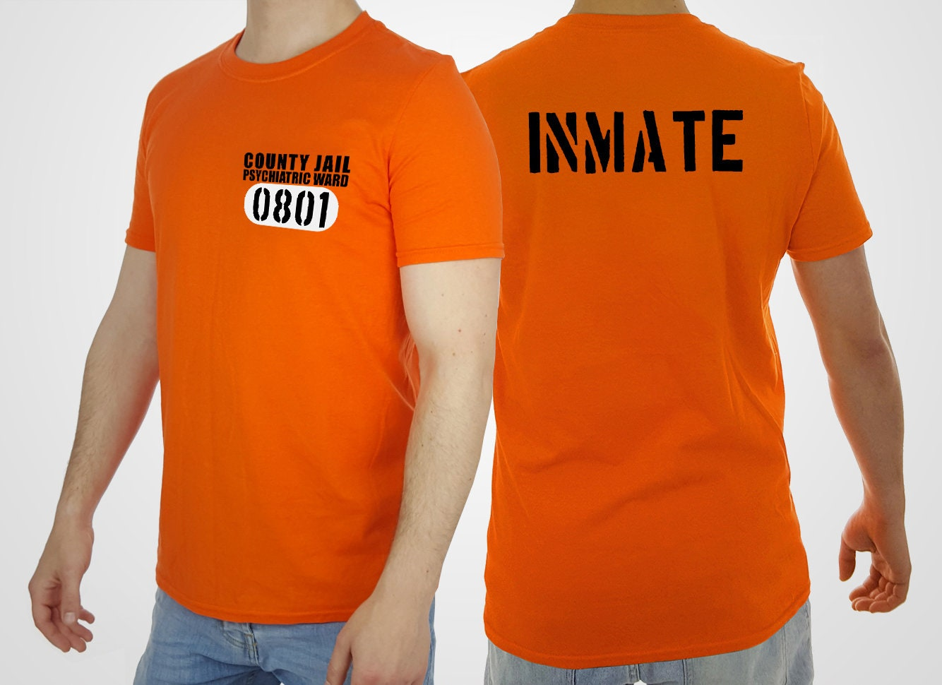 prison inmate t-shirt county jail tshirt psycho insane top | etsy