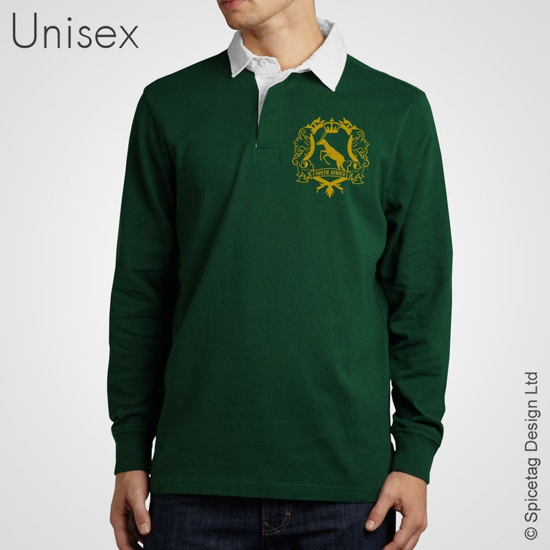 Retro South Africa Rugby Jersey Green Jumper Vintage Style  0f6ad6d8f