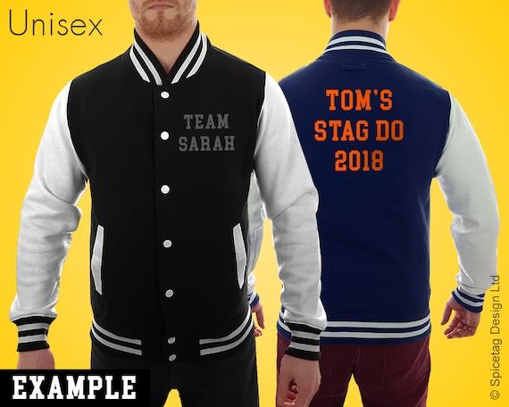 Veste Letterman personnalisé avec texte personnalisé sur mesure choix  imprimé Collège Varsity manteau Workwear Baseball américaine de ... b97ca0aaedfd