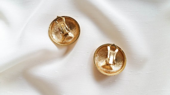 Lanvin - black triangle earrings, vintage art dec… - image 6