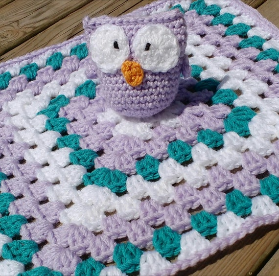 Eule Lovey Decke Eule kuscheln Decke häkeln Lovey Decke | Etsy