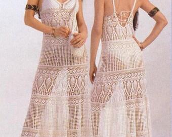 c4de494ee46 Maxi dress crochet PATTERN
