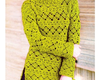 19433014b73d1 Crochet sweater PATTERN for sizes S-3XL detailed tutorial in