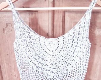 Crochet top PATTERN, detailed instructions in English, crochet beach tank top PATTERN ONLY, boho crochet top pattern, sexy beach crochet top