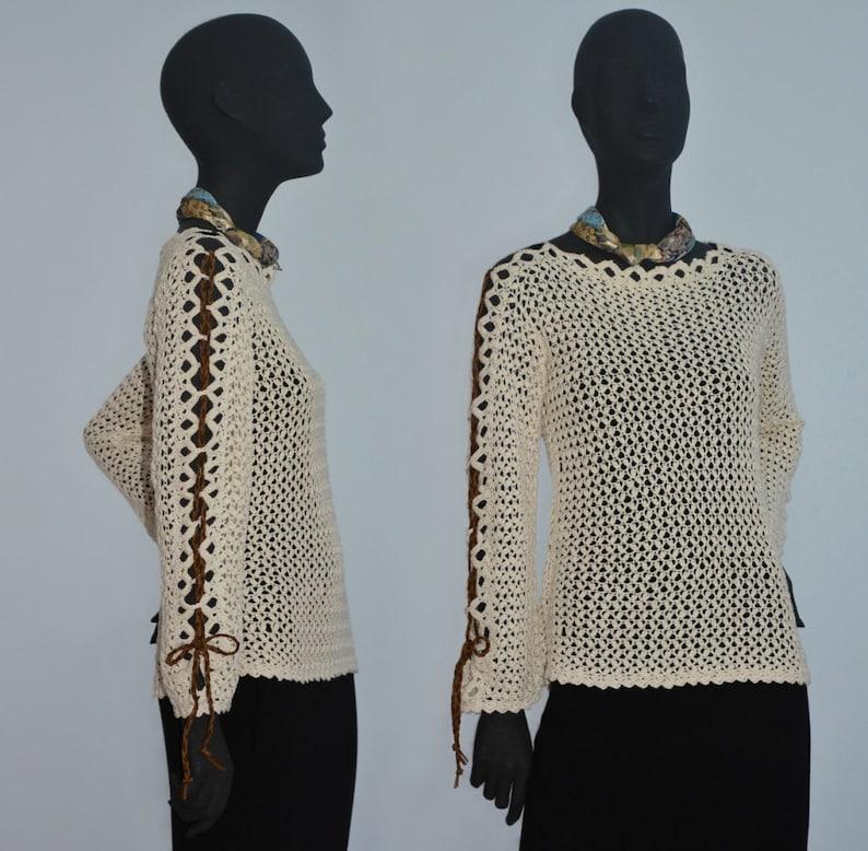 41caec2d8d78b Crochet sweater PATTERN for sizes XS-5XL written tutorial in