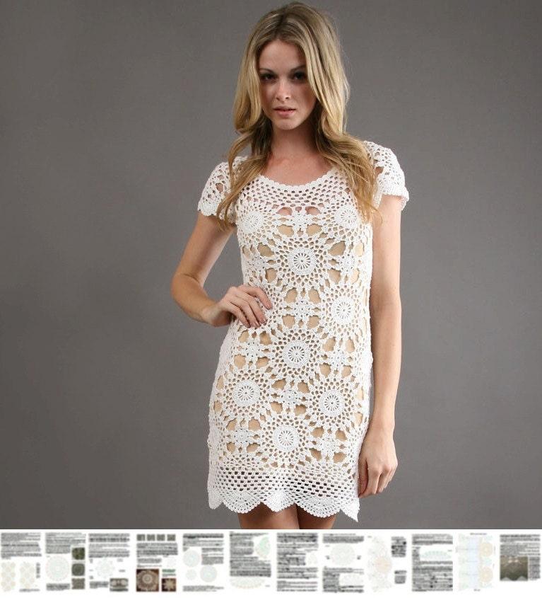 Crochet Dress Pattern Detailed Tutorial In English Beach Etsy