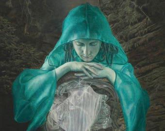 Guardian of Nectan's Glen Fine Art Giclee Print