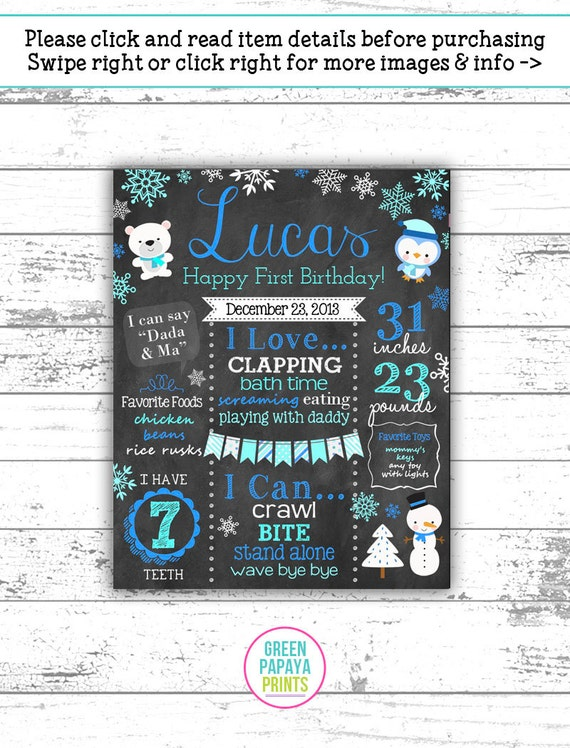 photograph relating to Eat Mor Chikin Printable Sign known as Wintertime Onederland Initial Birthday Chalkboard Poster