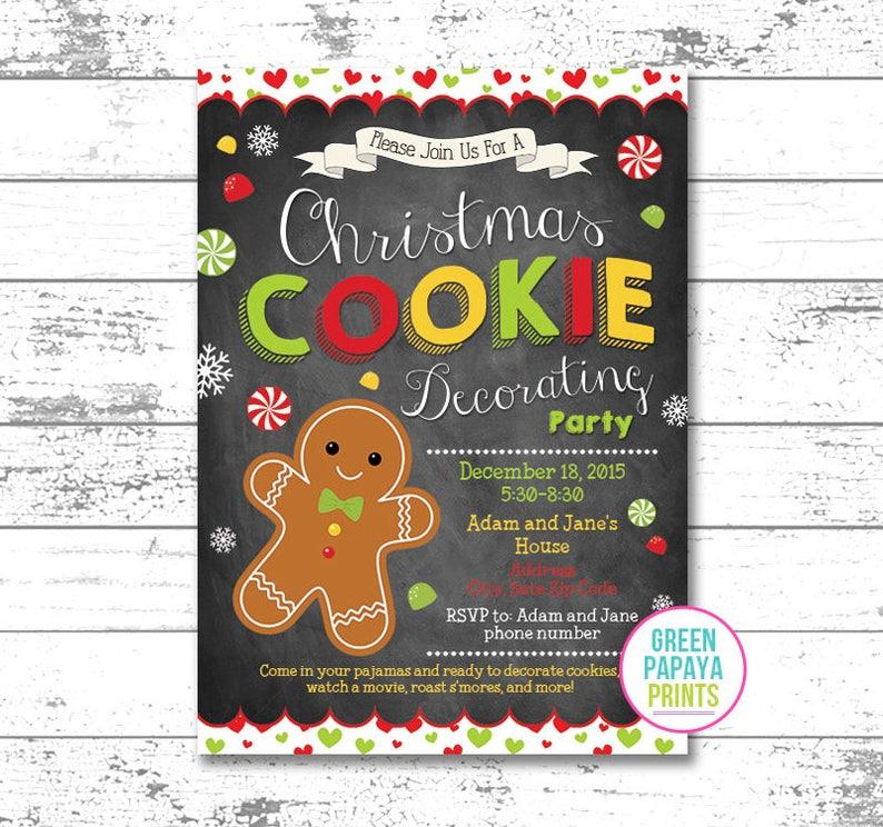 Christmas Cookie Party Invite.Christmas Cookie Decorating Invitation Invite Printable Digital File Cookie Exchange Invite Cookie Party Invite Birthday Invitation