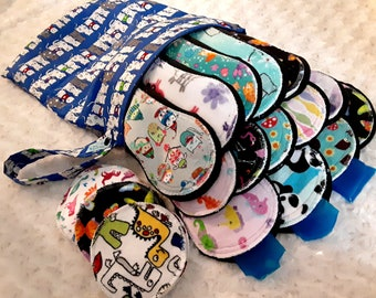 Ultimate Postpartum Ice Pad Set ** Hanging Wetbag** Made to Order- 14 Pads, Ice packs, Full set, Pampered Shop