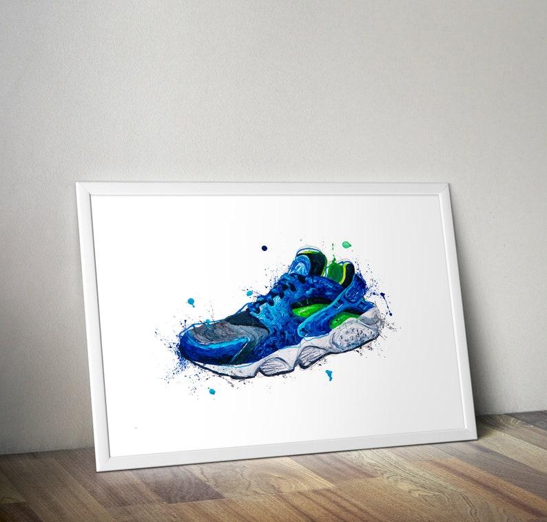Nike huarache A3 poster print trainers
