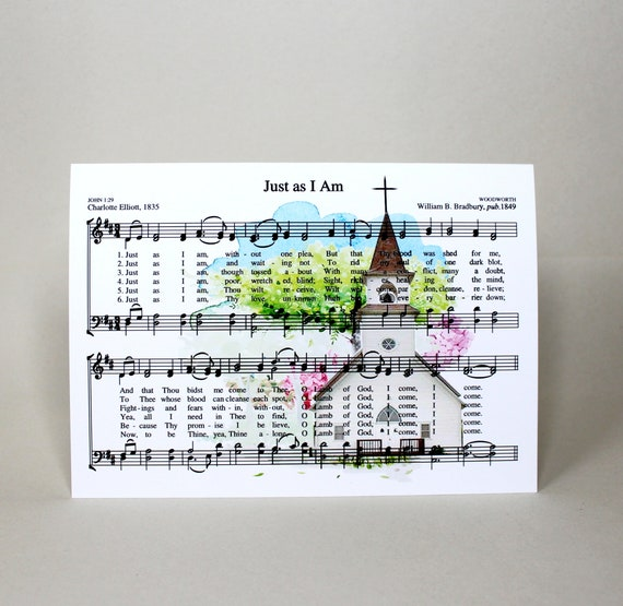 Just as i am hymn church greeting card 5x7 etsy just as i am hymn church greeting card 5x7 m4hsunfo