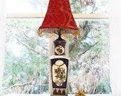 Imari Porcelain Table Vase Lamp, Gold Trimmed, Vintage Japanese, Handpainted, 19th Century