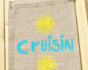 Cruise gift bags with sun and anchor