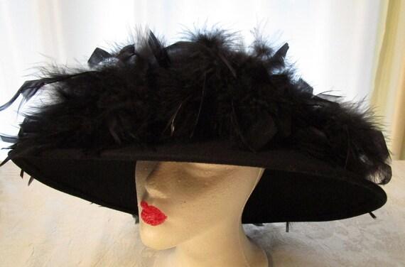 Betmar New York, Vintage, Black Feather Hat