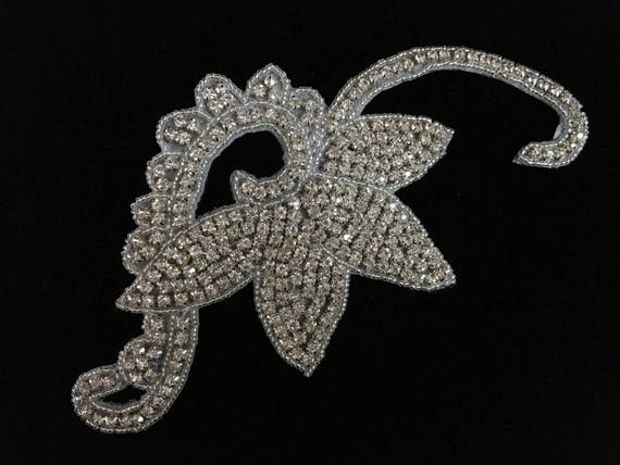 Rhinestone Applique For Bridal Headpieces Wedding Dress Embellishment Garment Or Purse Decoration And More