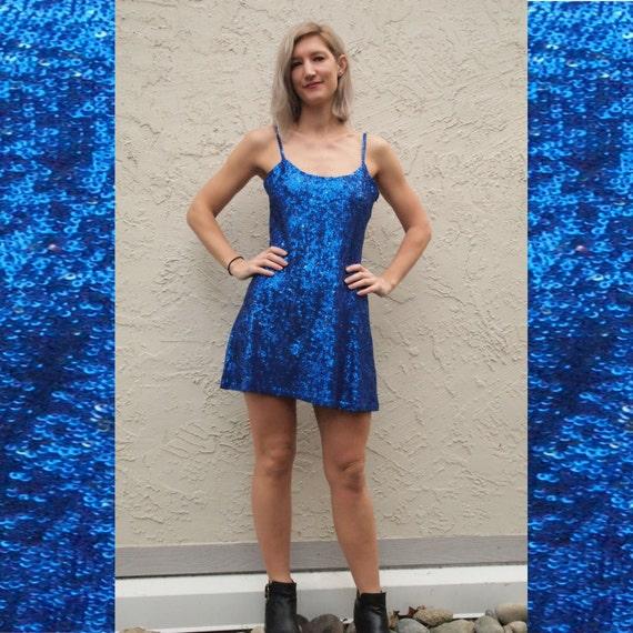 All-over Sequined Mini Dress 90 s Slip Dress by Kookai  1e122db40