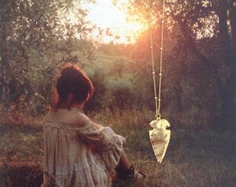 AVILES - Gold arrowhead necklace | Arrowhead necklace | Boho | Dainty gold necklace | Arrowhead pendant | Layering | Boho style