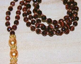RED TIGERS EYE 108 Bead Mala, Red Tigers Eye Necklace,Red Tigers Eye Spiritual Necklace,Red Tigers Eye Necklace For Men,Mens Tigers Necklace