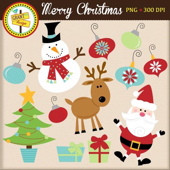 Christmas Clip Art Cute.Christmas Clipart Christmas Clip Art Cute Digital Clipart Personal Use Commercial Use Card Design Scrapbooking Web Design