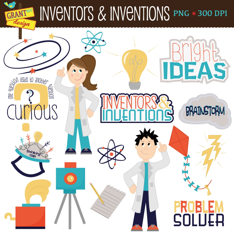 Science Clip Art Inventors Inventions Cute Digital