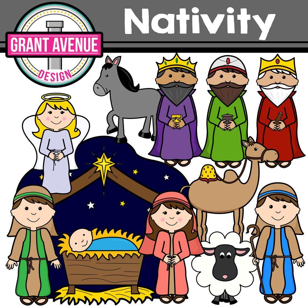 Nativity Clipart Christmas Clip Art Cute Digital Clipart ...