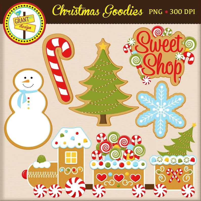 Weihnachtsplätzchen Clipart.Weihnachtsplätzchen Clipart Lebkuchen Zug Weihnachtsplätzchen Weihnachten Digital Clipart Kartengestaltung Scrapbooking