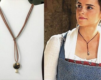 Beauty and the beast necklace, Emma Watson's choker, Belle's rope necklace, Belle lariat necklace, Belle choker necklace