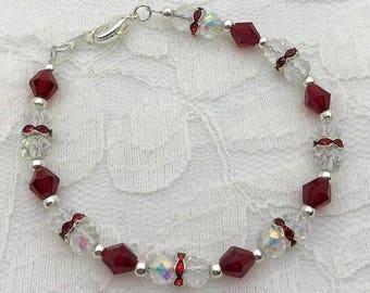 Ruby bracelet, July birthstone gift, July birthstone jewelry, July birthday gift, Ruby jewelry