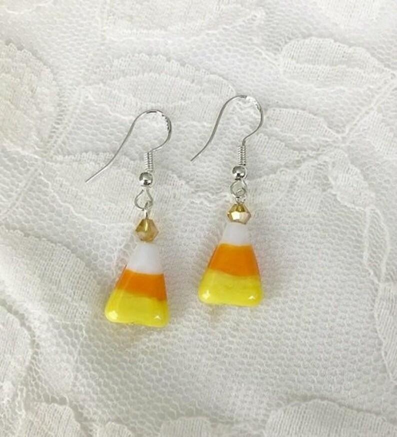 47fd3e3c0 Candy corn earrings Beaded Halloween earrings Fall earrings | Etsy