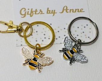 LED BEE KEYCHAIN with Light and Sound Cute Insect Buzzing Noise Key Chain Ring