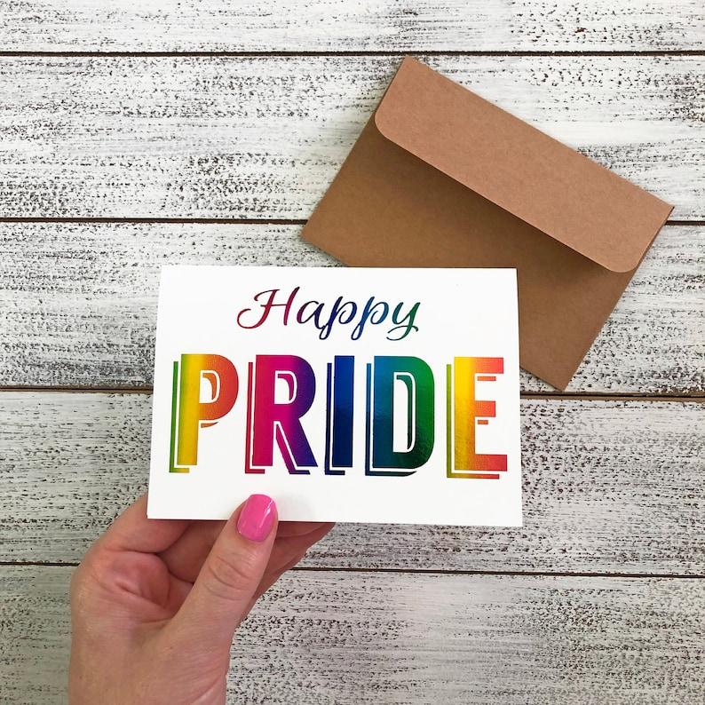 Happy Pride Rainbow Foil LGBTQ Pride 2019 Rainbow image 0