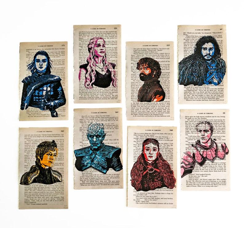 GOT Game of Thrones TV show Jon Snow Arya Stark Brienne All Eight Prints