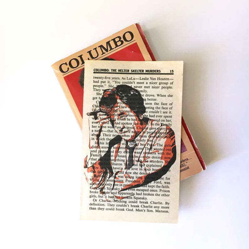 Lieutenant Columbo Detective TV show art print on vintage image 0